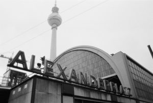 Berlin Alexanderplatz lettering.