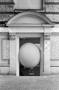 Balloon in store entrance